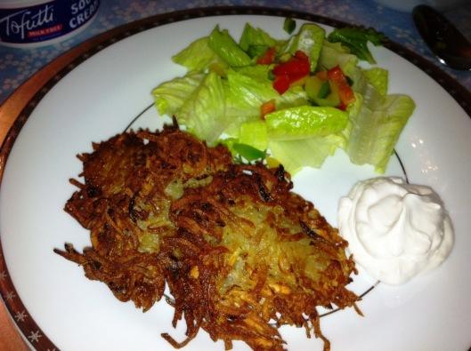 Vegan Chanukah plate
