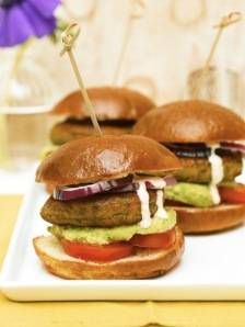 One of said gorgeous photos from the book. These are the Falafel Sliders with Avocado Hummus. Mmmm.