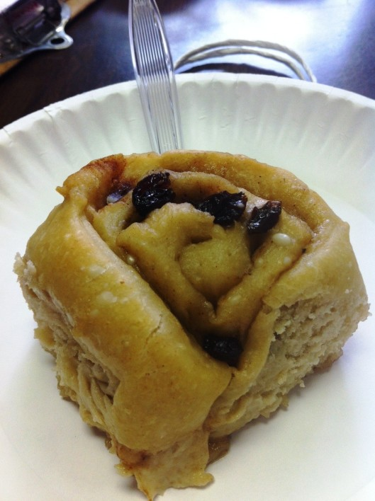 My sweet and chef-y friend Lori made these Ooey Gooey Cinnamon Rolls from the cookbook for me!