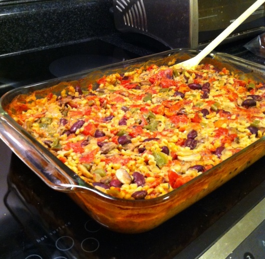 This is Barley Bliss Casserole, and indeed, eating it was blissful. Plus, I had leftovers for days!