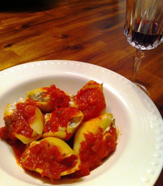 These are her delectable Stuffed Shells, filled with flavorful and fresh garden 'ricotta'