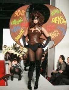 I kind of imagine my chocolate super hero outfit looking something like this (from the NY Chocolate Show)