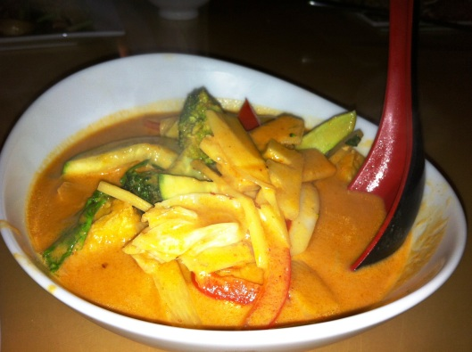 Red curry with tofu and veggies