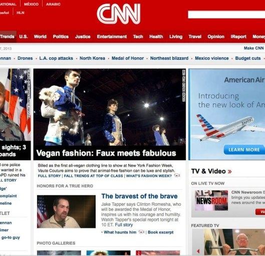 Vaute Couture on CNN.com