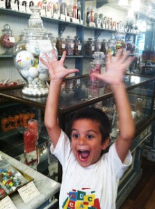 Kid in a candy store!