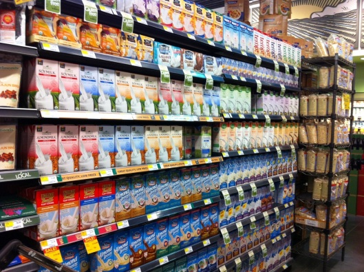 And here are tons in the non-refrigerated section.