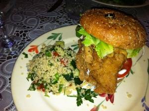 puree deep south sandwich, vegan meals out