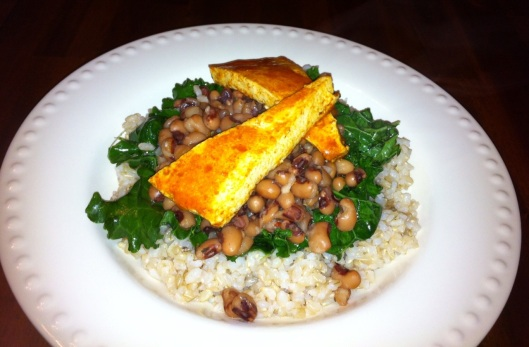 Beans & Greens with Buffalo Tofu