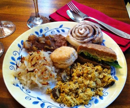 vegan brunch plate