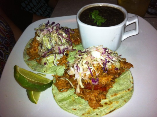 Fiction Kitchen tinga tacos