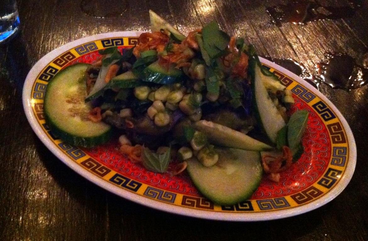 Eggplant Yam: Eggplant curry salad w/ roasted corn, leeks. This was my ...