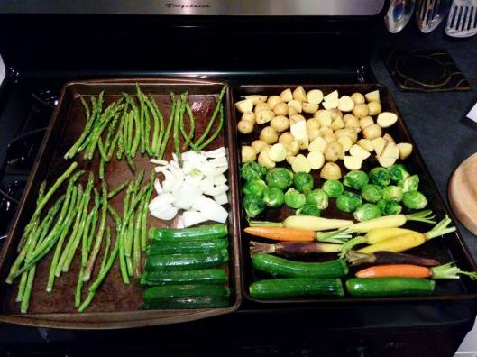 A MM meal by Travis. Now that is what I call roast some vegetables!