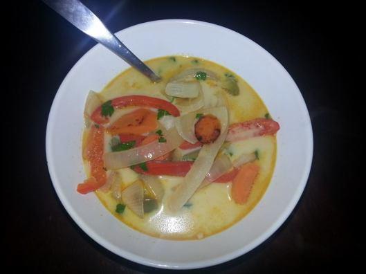 Travis' MM Dinner: Thai Ginger Soup over rice