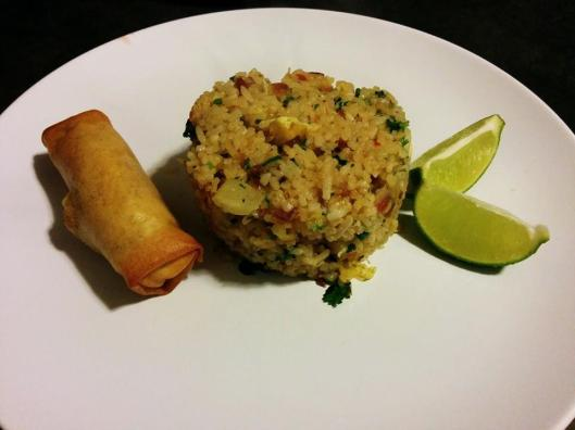 One of Travis' MM Dinners: Thai Pineapple Fried Rice